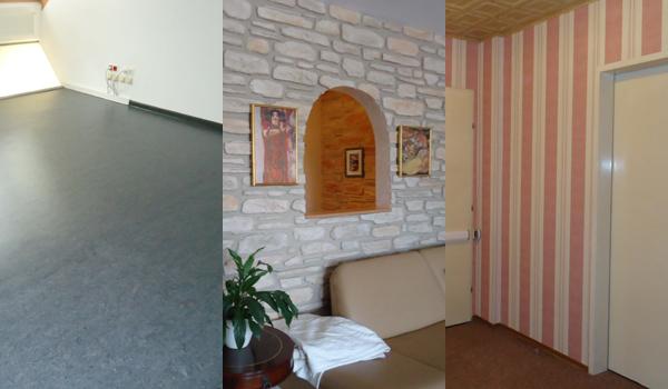Wand und Boden