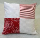 Wendekissen Rot-Weiß 50 x 50 cm
