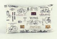 Vintage-Kissen Fahrräder gelb