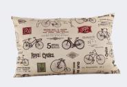 Vintage-Kissen Fahrräder rot
