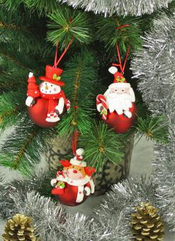 Weihnachtsbaumhänger mit Kugel