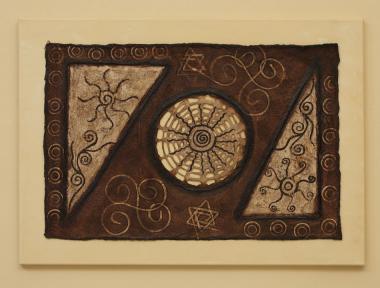 """Bild """"la red del universo"""" 70 x 50 cm"""