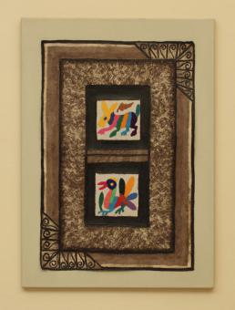 """Bild """"la bicha y la gallina"""" 70 x 50 cm"""