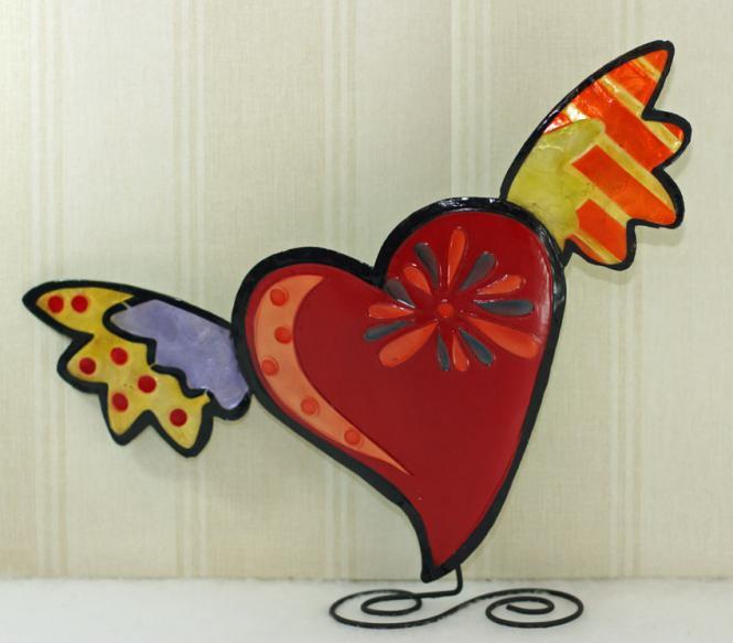 Funky Herzen rot groß