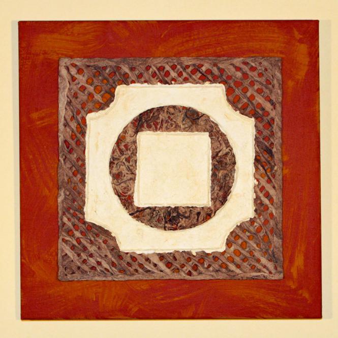 """Bild """"Quadrat im Kreis"""" 40 x 40 cm"""